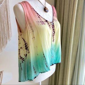 American Rag tie-dye crop top